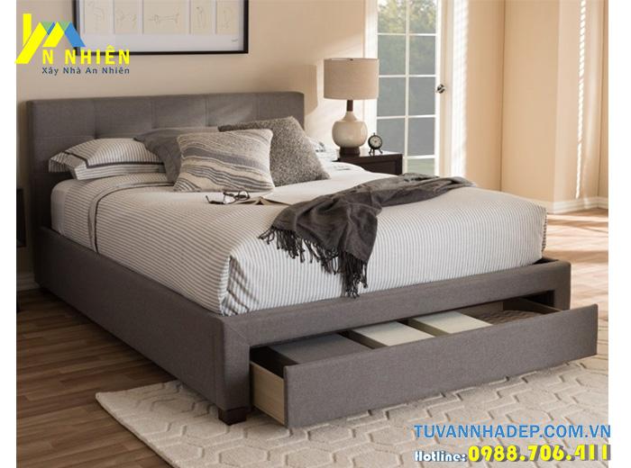 giường hiện đại bọc nỉ