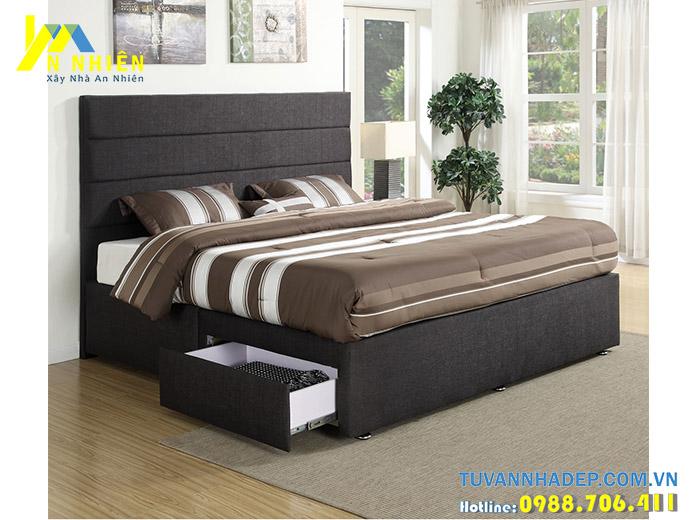 giường đẹp bọc nỉ