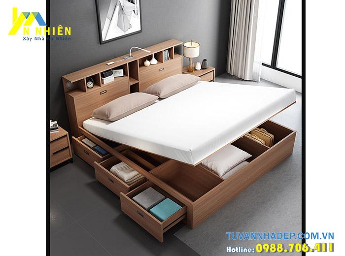 mẫu giường gỗ thông minh