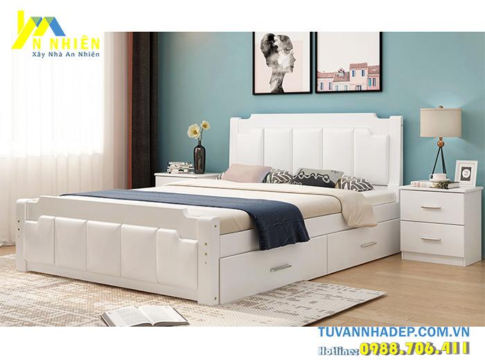 giường thông minh bằng gỗ