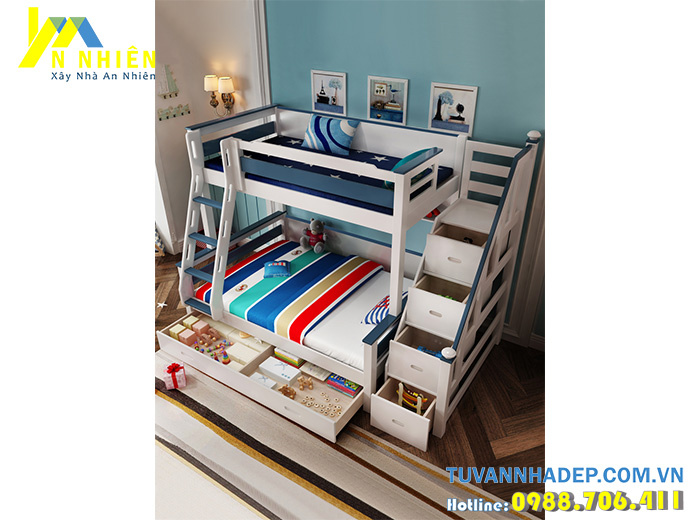 mẫu giường tầng cho bé trai