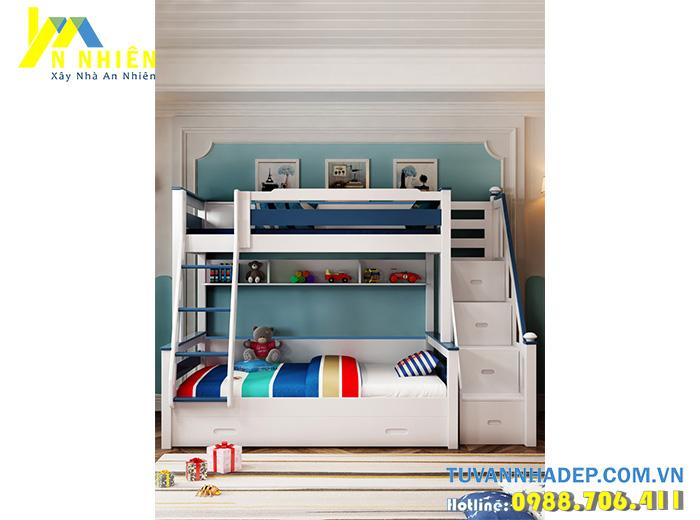 giường tầng đơn giản cho bé trai