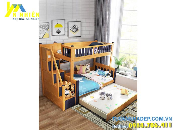 giường gỗ đa năng cho bé