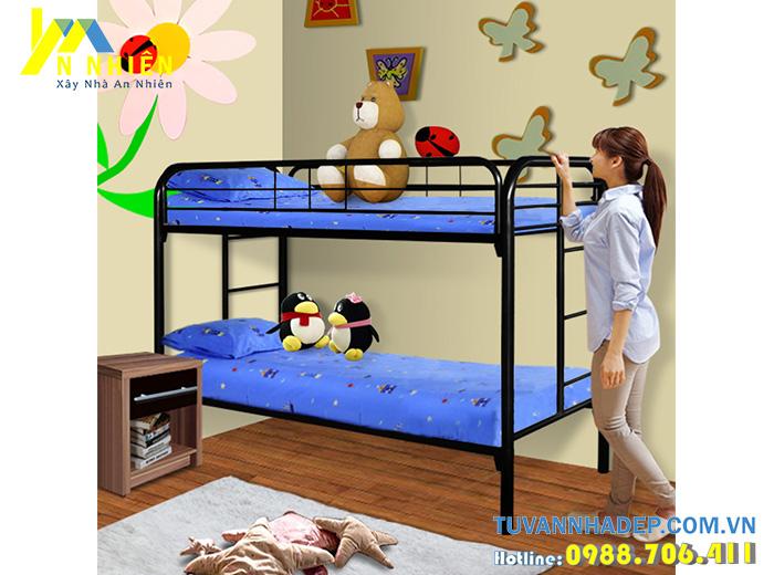 giường tầng inox