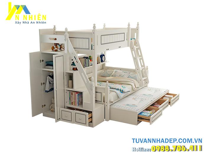 giường tầng kết hợp tủ áo
