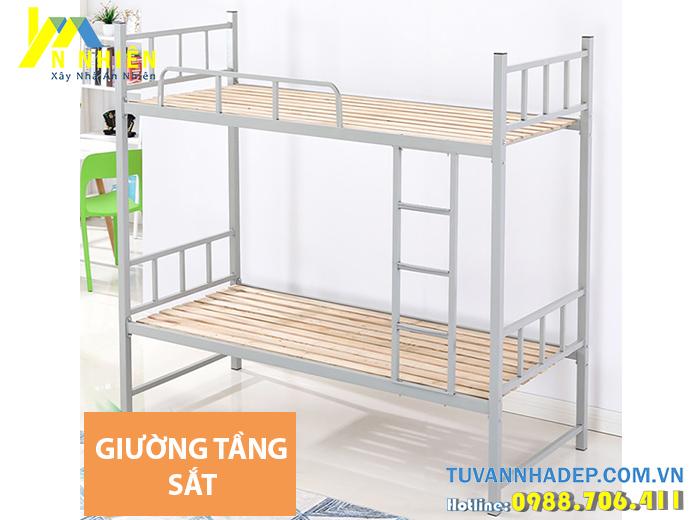 mẫu giường tầng sắt đơn giản