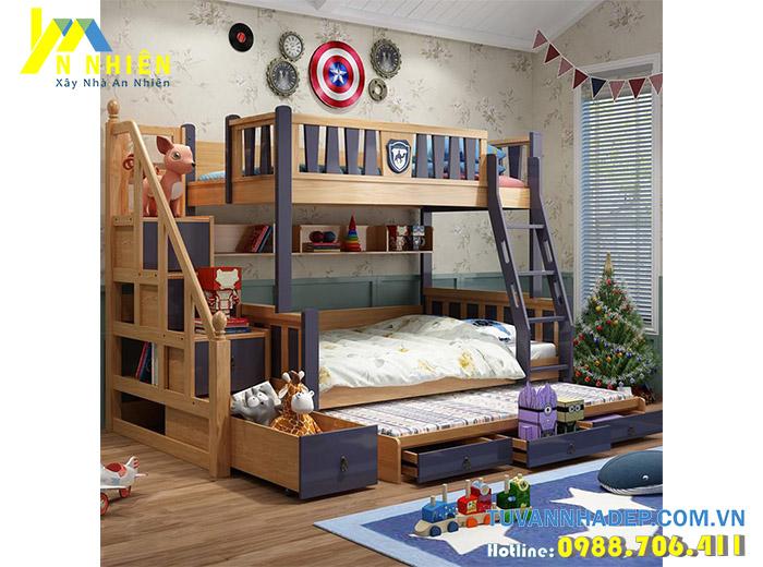 hình ảnh giường tầng trẻ em có cầu trượt