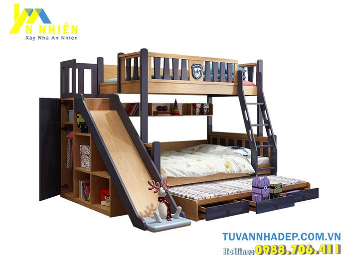 giường trẻ em có cầu trượt giá rẻ