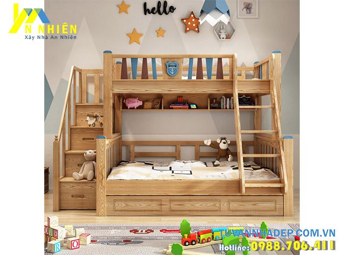 giường đẹp 2 tầng bằng gỗ