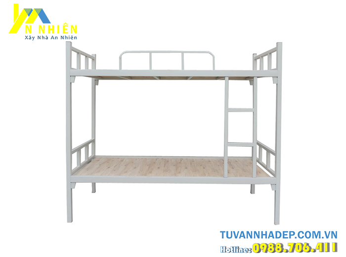 giường sắt đơn giản 2 tầng