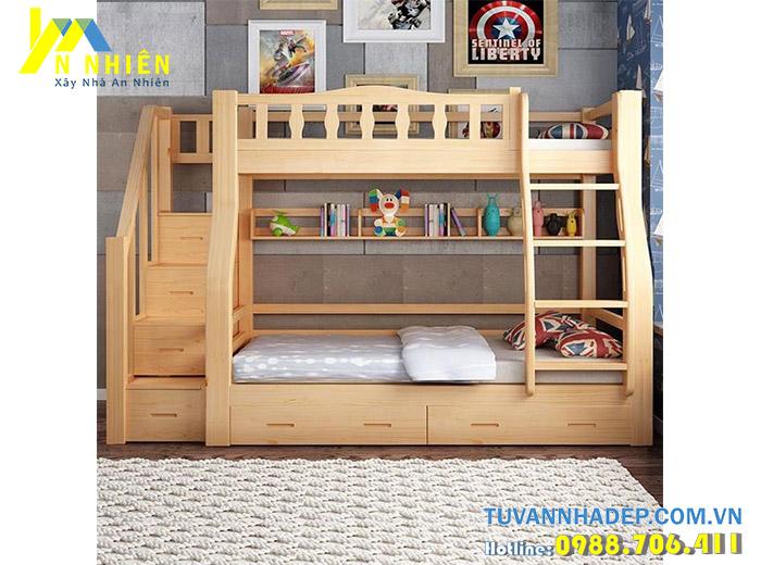 mẫu giường đẹp 2 tầng