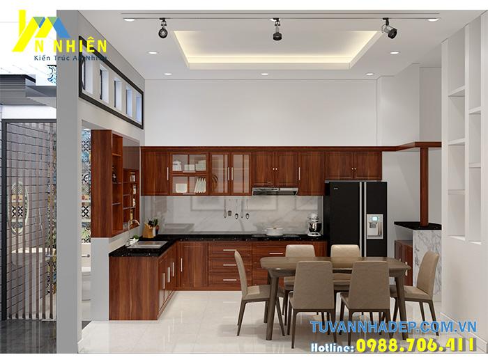 không gian phòng bếp truyền thống