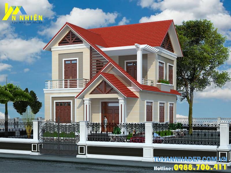 nhà 2 tầng mặt tiền 8m