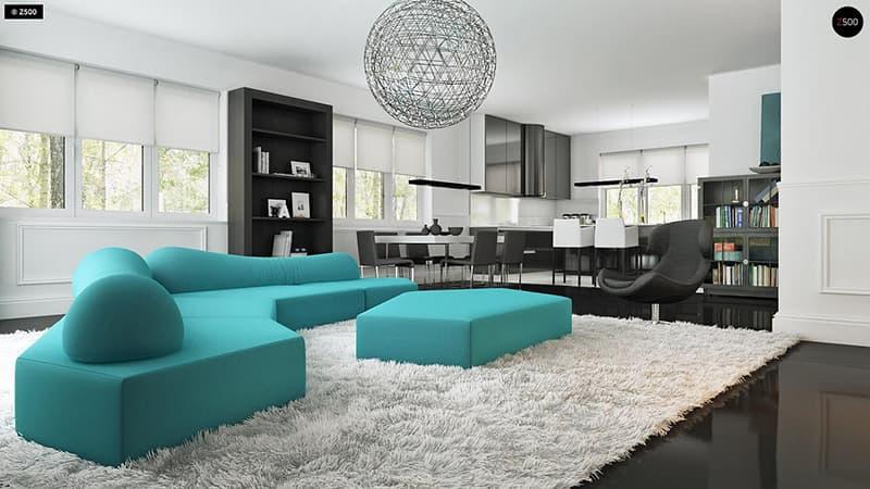 Thiết kế nội thất hiện đại tối giản sử dụng đồ nội thất thông minh