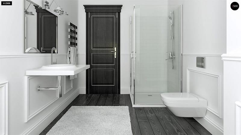 Màu trắng đem lại cảm giác sạch sẽ đầu óc thư giãn khi ở trong phòng tắm