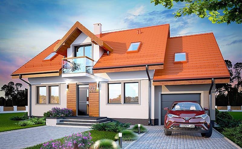 Kiến trúc hiện đại kết hợp kiểu mái tôn hiện đại