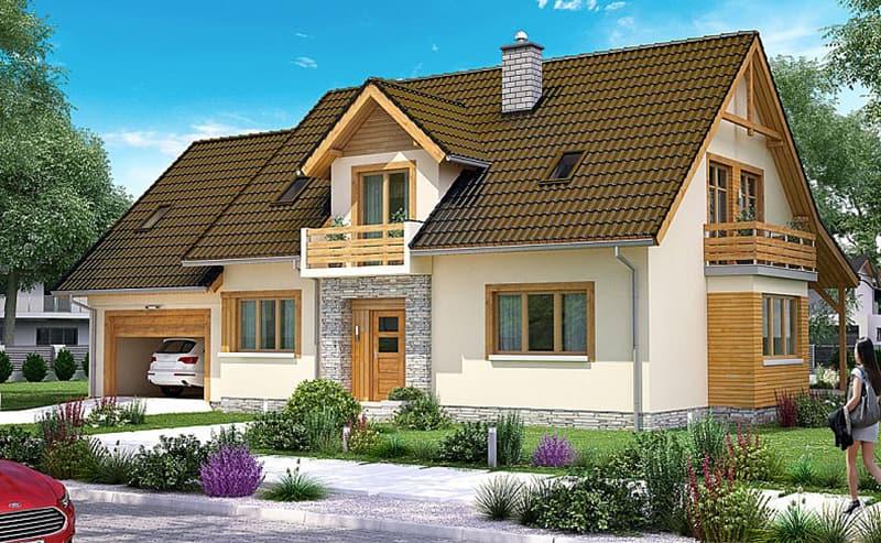 Mẫu nhà 1 tầng phong cách Châu Âu