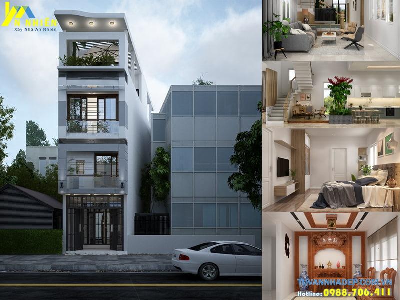 Nhà phố 4 tầng 5x10m