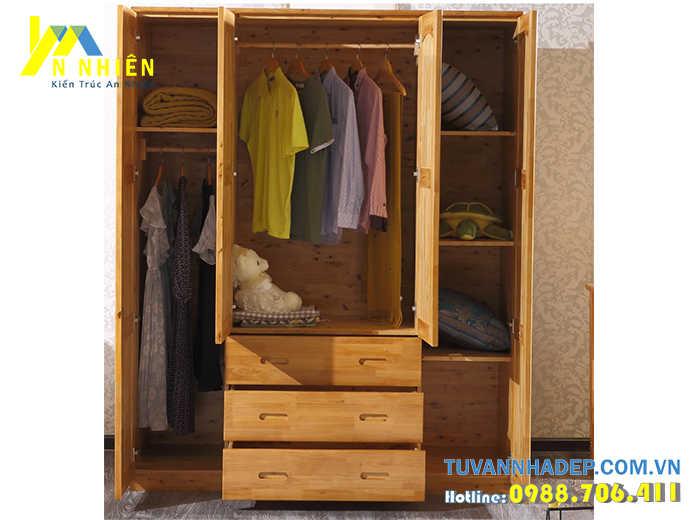 tủ quần áo đẹp bằng gỗ ghép