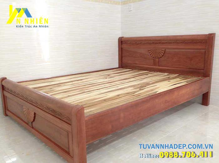 giường bằng gỗ ghép