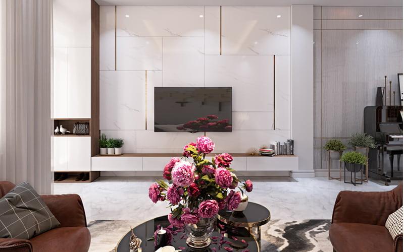 Thiết kế nội thất biệt thự 2 tầng 10x12m