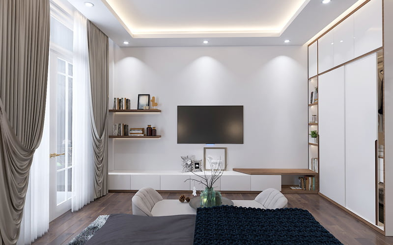 Trang trí nội thất phòng ngủ biệt thự