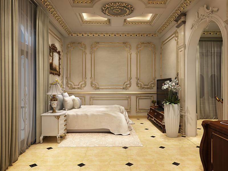 Trang trí phòng ngủ tân cổ điển đẹp