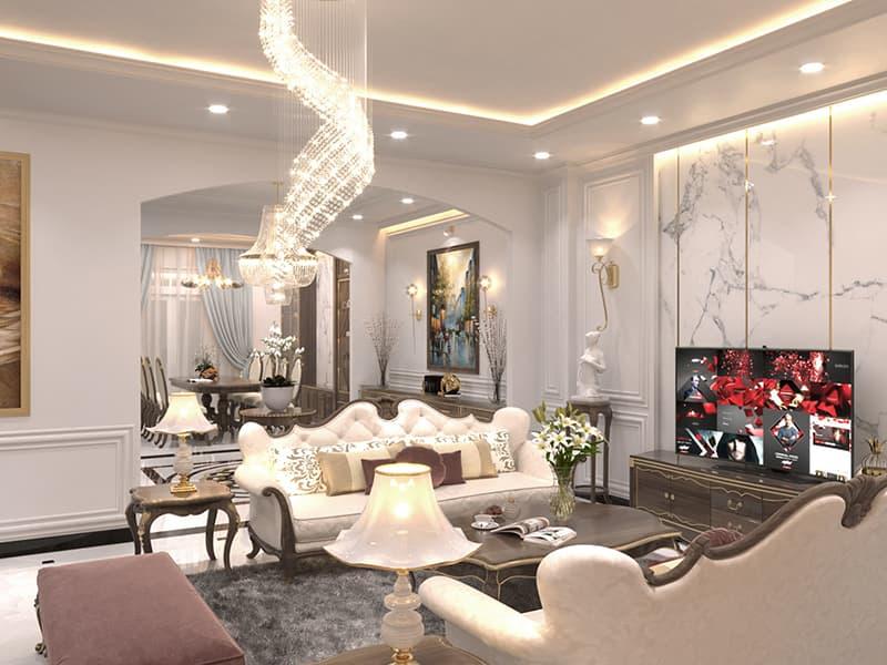 Ứng dụng phong cách kiến trúc tân cổ điển và thiết kế nội thất