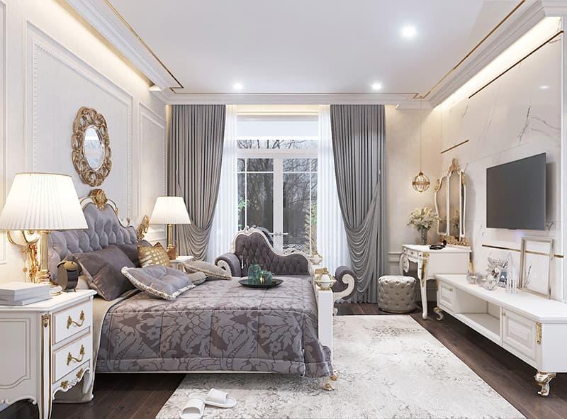Phòng ngủ lớn ấm cúng