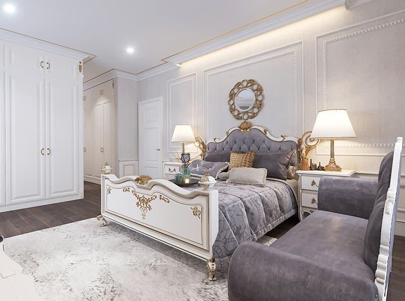 Tone màu trầm ấm trang trí phù hợp với phòng ngủ