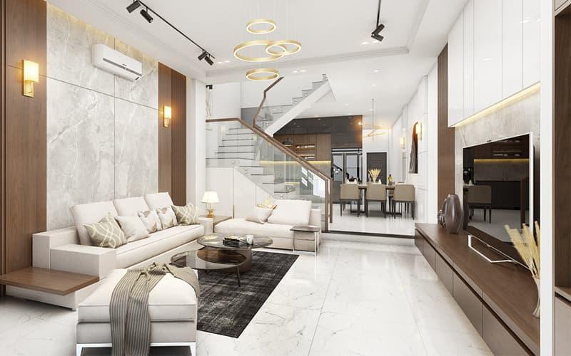 Thiết kế nội thất nhà phố 3 tầng 92m2