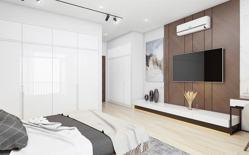 Phòng ngủ Master trang trí đồ nội thất tiện nghi