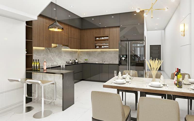 Trang trí nhà bếp không gian nhỏ