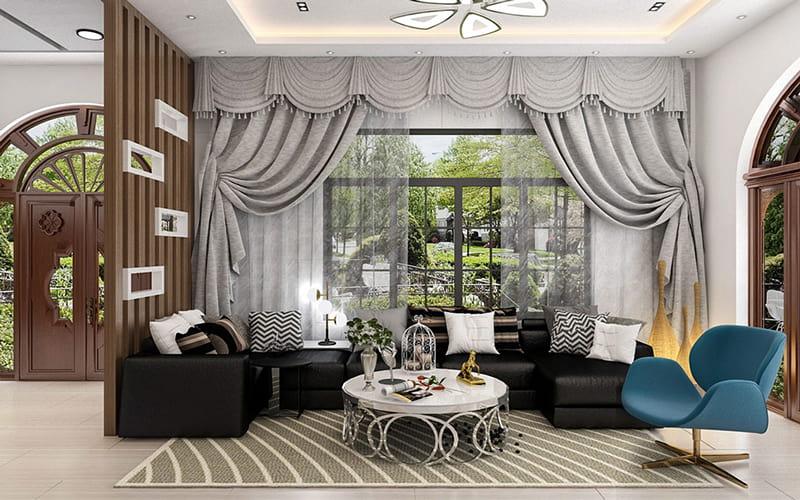 Phòng khách trang trí tối giản