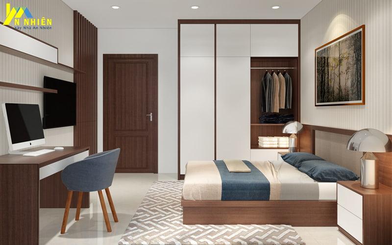 Phòng ngủ nhà phố thoáng mát và hiện đại