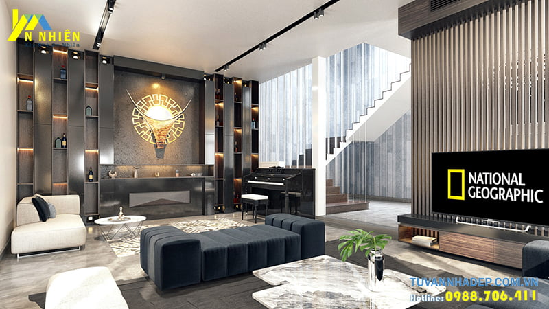 Trang trí nội thất căn nhà phố 120m2