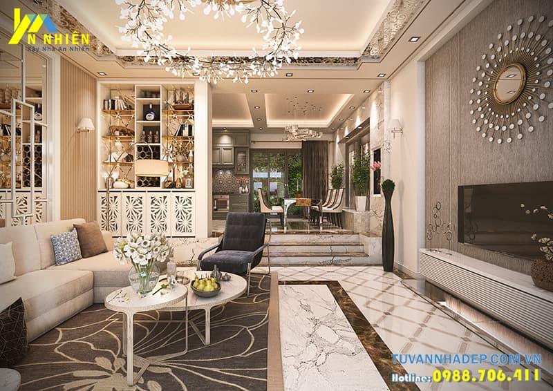 Phòng khách rộng rãi hiện đại