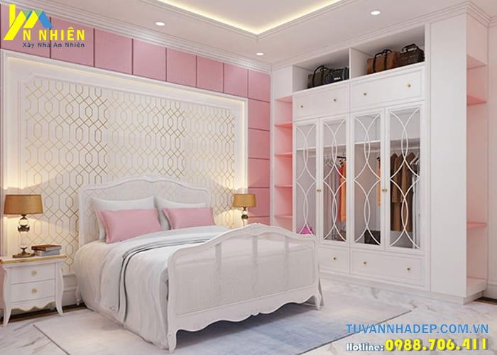 Phòng ngủ của bé trong căn biệt thự tân cổ điển được trang trí cách điệu