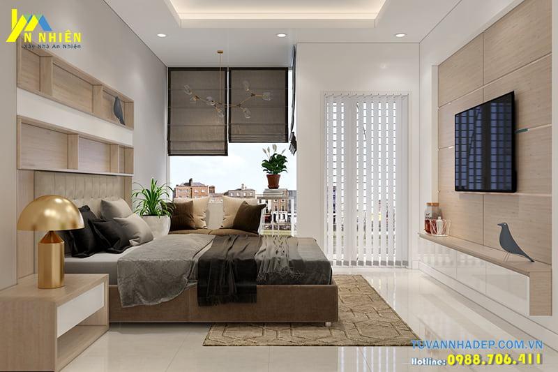 Phòng ngủ lớn thiết kế đầy đủ tiện nghi