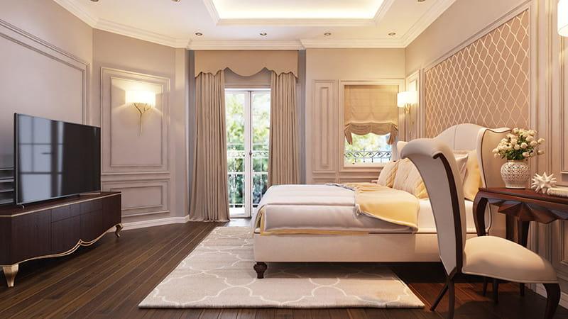 Phòng ngủ đẹp thoáng mát hiện đại