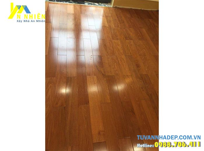 sàn nhà bằng gỗ căm xe