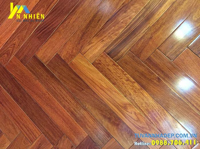 sàn nhà đẹp bằng gỗ căm xe