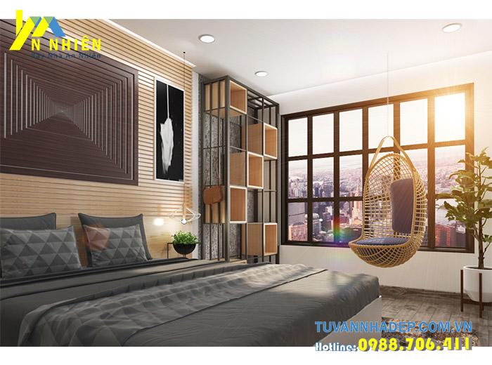 phòng ngủ hiện đại với gỗ mdf