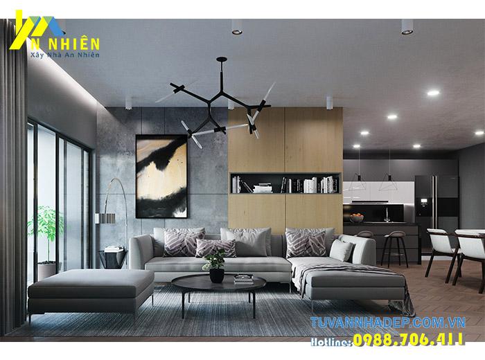 hình ảnh nội thất phòng khách với gô