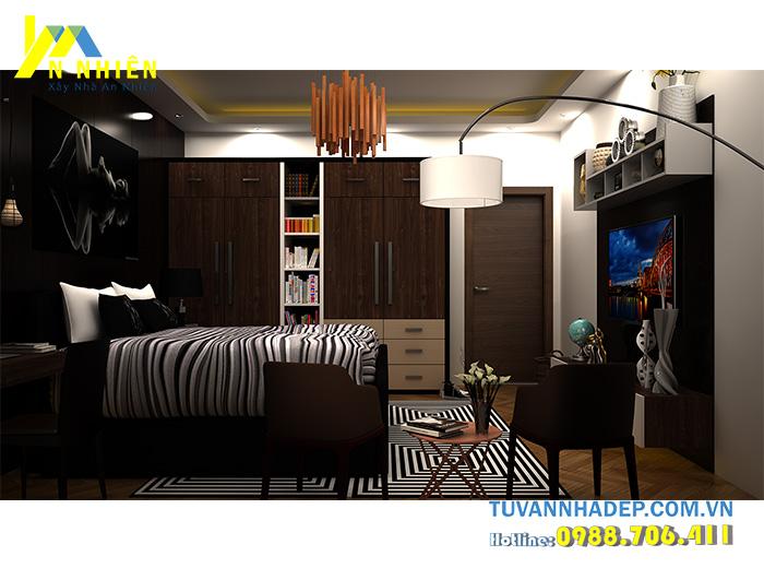 nội thất phòng ngủ với gỗ mdf