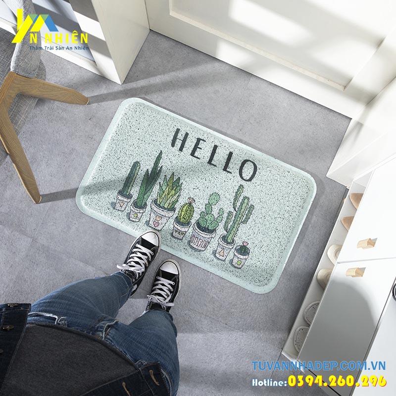 Thảm chùi chân Hello