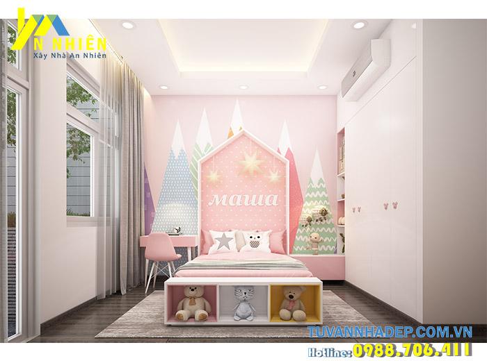 phòng ngủ con gái dễ thương