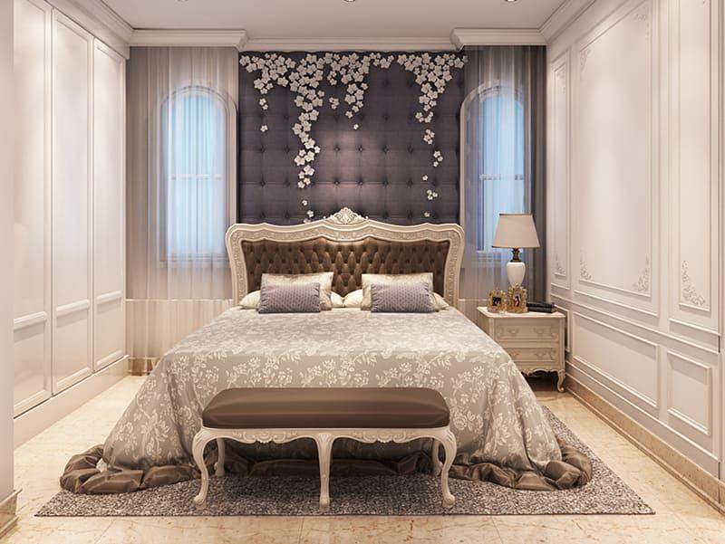 Mẫu giường ngủ tân cổ điển cho biệt thự sang trọng