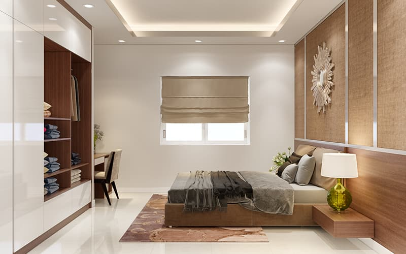 Phòng ngủ nhỏ được trang trí đẹp thoáng mát