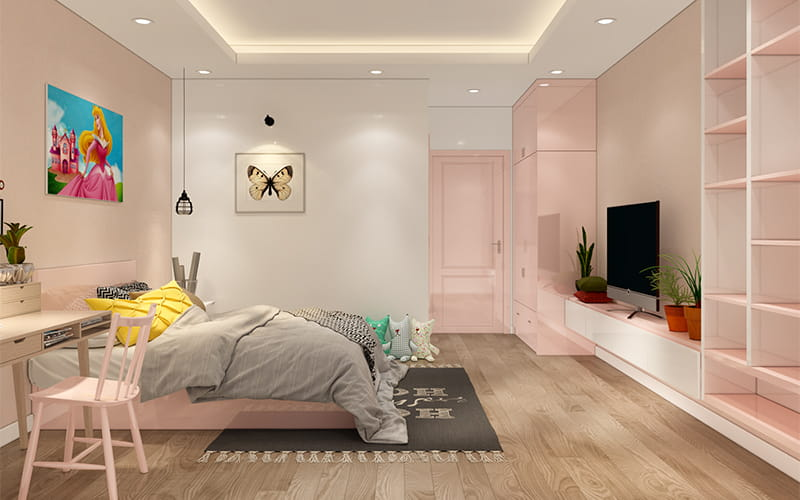 Sử dụng nội thất thông minh cho phòng ngủ nhỏ